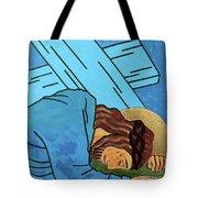 Jesus Falls Tote Bag