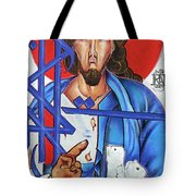 Jesus Tears Tote Bag