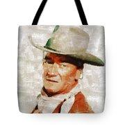 John Wayne By Mary Bassett Tote Bag