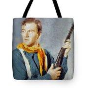 John Wayne, Vintage Hollywood Legend Tote Bag