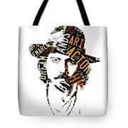 Johnny Depp Movie Titles Tote Bag