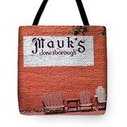 Jonesborough Tennessee Mauk's Store Tote Bag
