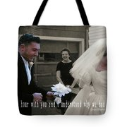 Just Married Quote Tote Bag