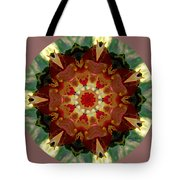 Kaleidoscope - Warm And Cool Colors Tote Bag by Deleas Kilgore