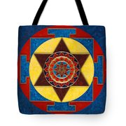 Kameshvari Yantra Blessings Sacred 3d High Relief Artistically Crafted Wooden Yantra  23in X 23in Tote Bag