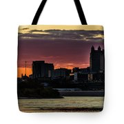 Kansas City Sunrise From Kaw Point Tote Bag