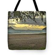 Kaohikapu Island Sunrise Tote Bag