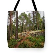 Kaukaloistenkallio Hillside View Tote Bag