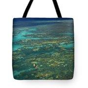 Kayaking Through Beautiful Coral Tote Bag