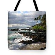 Ke Lei Mai La O Paako Oneloa Puu Olai Makena Maui Hawaii Tote Bag by Sharon Mau