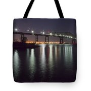 Key Bridge At Night Tote Bag