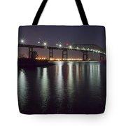 Key Bridge At Night Tote Bag