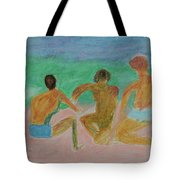 Kids At The Beach Tote Bag