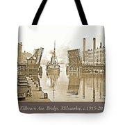 Kilbourn Avenue Bridge, Milwaukee, Wisconsin, 1915-1920, Vintage Tote Bag