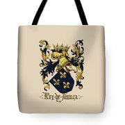King Of France Coat Of Arms - Livro Do Armeiro-mor  Tote Bag by Serge Averbukh