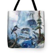 Kingfisher's Realm Tote Bag