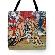Knights In Tournament Tote Bag