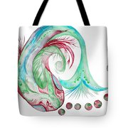 Koi Fish-watercolor Tote Bag