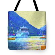 Kotor Harbor Tote Bag