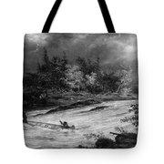 Krieghoff: Canoe On Rapids Tote Bag