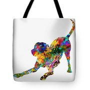 Labrador Retriever-colorful Tote Bag