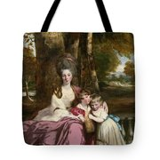 Lady Elizabeth Delme And Her Children Tote Bag