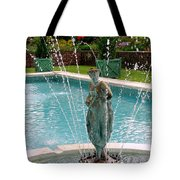 Lady In Fountain Tote Bag