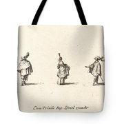 Lady With Dress Gathered Up, And Two Gentlemen Tote Bag