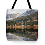 Lake Cabins In Fall Tote Bag