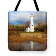 Lake Huron Lighthouse Tote Bag
