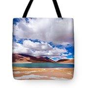 Lake Meniques In Chile Tote Bag