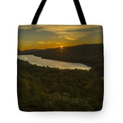 Lake Of The Clouds Sunrise Tote Bag