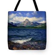 Lake Sherburne, Glacier National Park Tote Bag