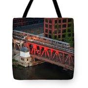 Lake Street Crossing Chicago River Tote Bag