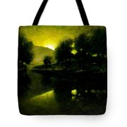 Lakeside Sunset Tote Bag