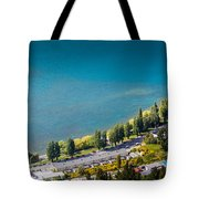 Landscape Of Lake In The South Island, Queenstown New Zealand  Tote Bag
