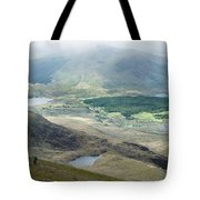 Landscape View Of Llyn Cwellyn And Moel Cynghorion In Snowdonia  Tote Bag