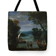 Landscape With A River And Boats Tote Bag