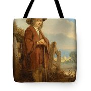 Landscape With A Youth Tote Bag