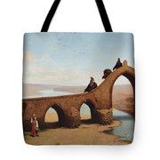 Landscape With Bridge Tote Bag