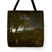 Landscape With Elijah And The Angel Tote Bag