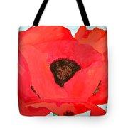 Large Poppy Tote Bag