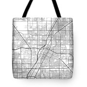 Las Vegas Nevada Usa Light Map Tote Bag
