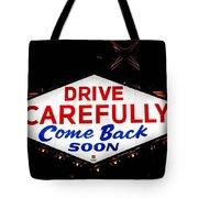 Las Vegas Sign At Night Tote Bag