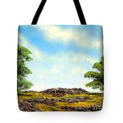 Lava Rock And Flowers Tote Bag