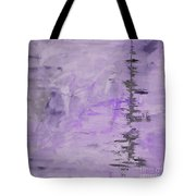 Lavender Gray Abstract Tote Bag