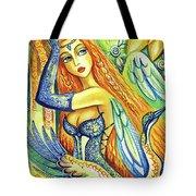 Fairy Leda And The Swan Tote Bag