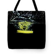 Lemon Dropped Into Water  Tote Bag