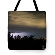 Lightening Up The Night Tote Bag