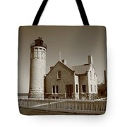 Lighthouse - Mackinac Point Michigan Tote Bag